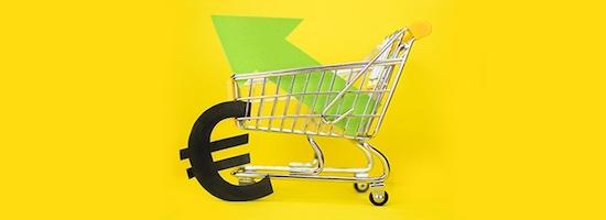 Einkaufswagen als Zeichen dafür, wie sie die Warenkörbe steigern können