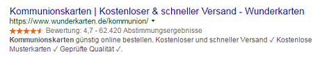 Rich Snippets SEO Sterne