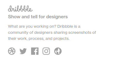 dribble show and tell for designers