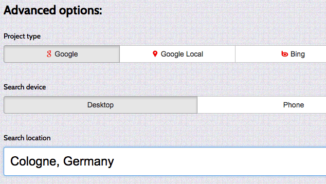 Advanced-Options-bei-Serplab
