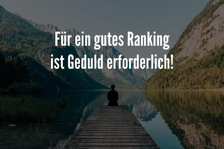 google ranking geduld