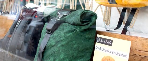 Airpaq: Mit Airbags zu nachhaltigen Rucksäcken