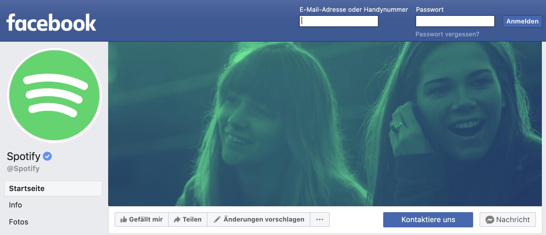 spotify facebook logo