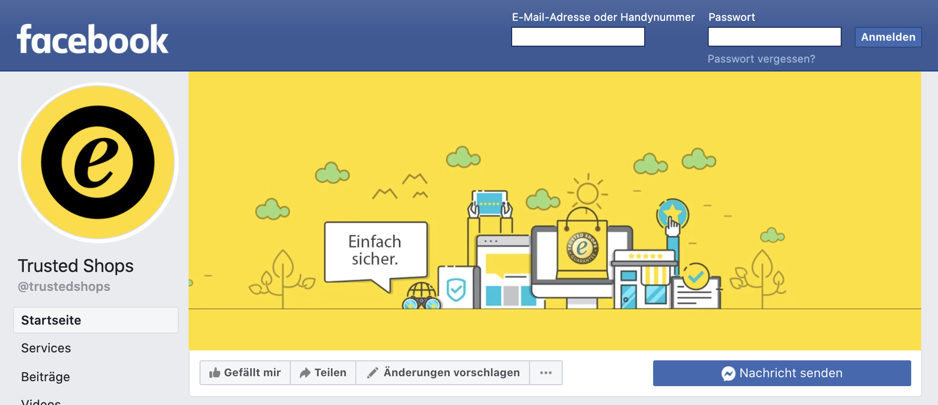 trusted shops DACH facebook