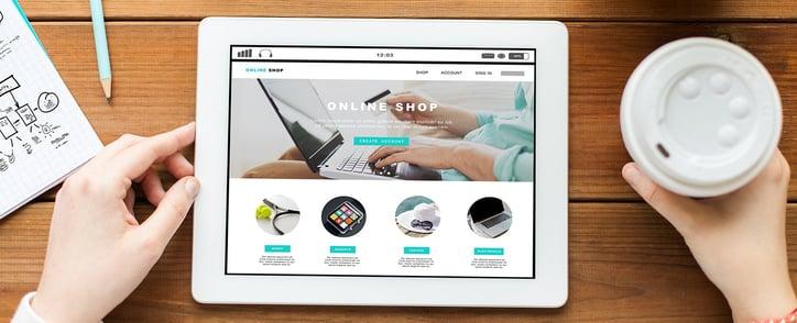 Landingpage Online-Shop