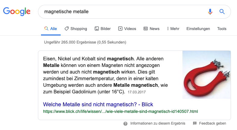 13. magnetische metalle featured snippet