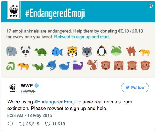 #EndangeredEmojis Kampagne von WWF