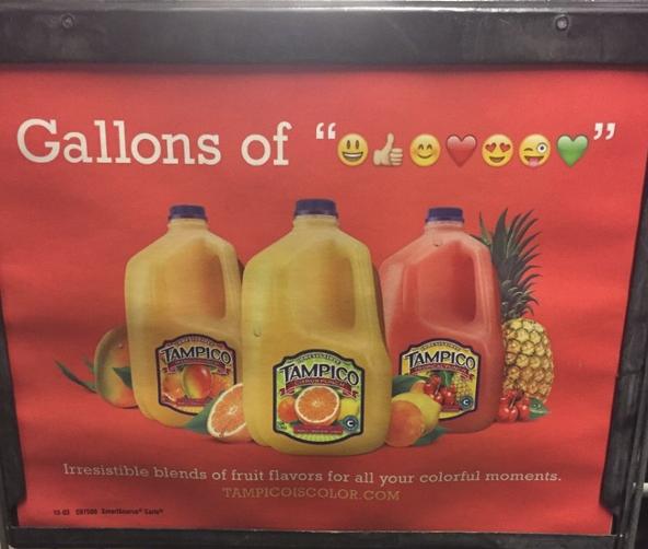 Werbeanzeige des Saftherstellers Tampico
