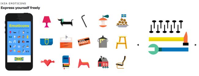 Übersicht der IKEA Emoticons