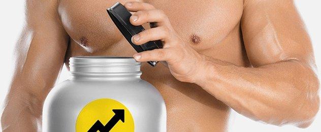 Blogbild Muskelmann mit Growth-Supplements