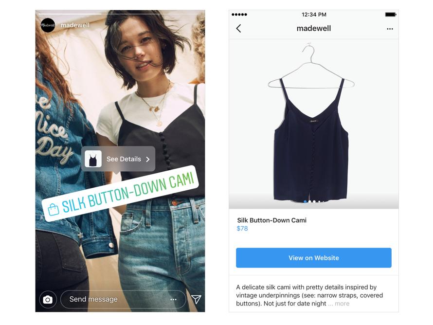 Instagram Shopping in den Stories
