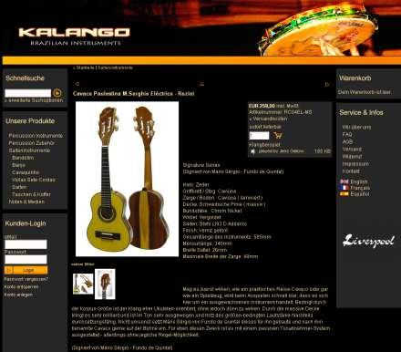Soundbeispiel auf Produktseite