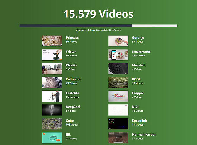 Videoscanner für Produktvideos