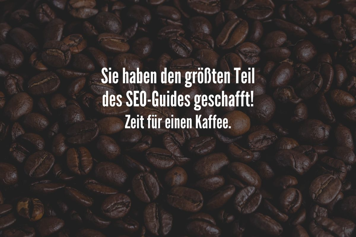 seo kaffee pause