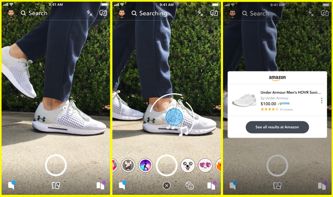Snapchat Visual Search Screenshot