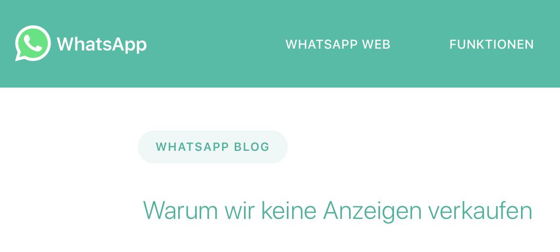 whatsapp-keine-werbung