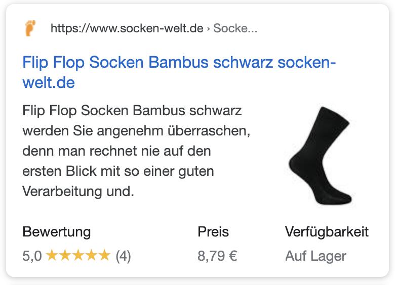 google suchergebnisse rich