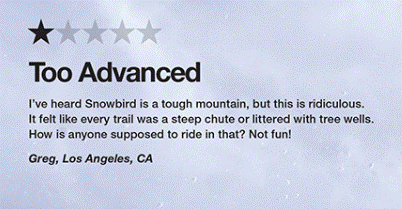 Negative Bewertung Skiresort