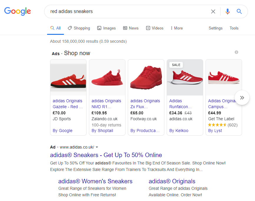 Google_SERPs_Adidas_sneakers